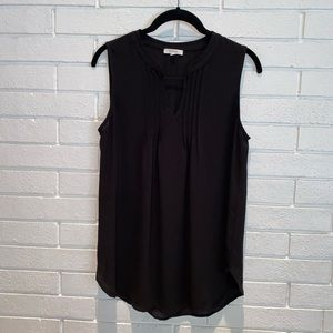 Pleione black Sleeveless blouse Top Size XS